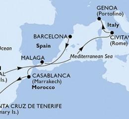 10 Noches por España, Marruecos, Portugal, Italia a bordo del MSC Orchestra