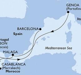 7 Noches por Italia, España, Marruecos, Portugal a bordo del MSC Preziosa