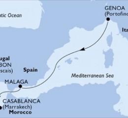 5 Noches por Italia, España, Marruecos, Portugal a bordo del MSC Preziosa